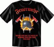T Shirt - Feuerwehr zu heiss