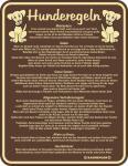 Fun Schild Alu Blechschild geil bedruckt + geprägt - Hunderegeln - Hund Regeln