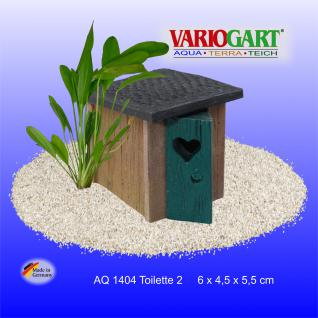 WC Toilettenhäuschen - Dekoration für Aquarium & Terrarium - Vorschau