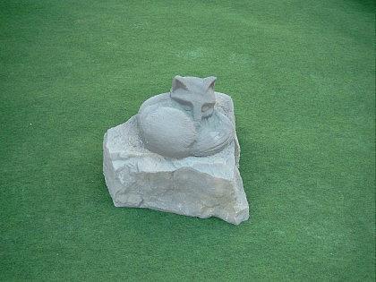 Gartenfigur Fuchs aus Graphikstein - Vorschau 2