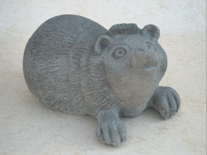 Gartenfigur Igel aus Graphikstein