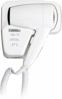 Casselin weißer Haartrockner 1200 Watt - 2 Trocknungsstufen - mit Rasiersteckdose