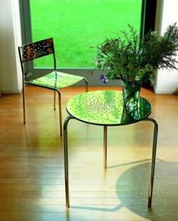 Graepel Tempesta hochwertiger Indoor Tisch aus Edelstahl 1.4016 verchromt - Vorschau 1