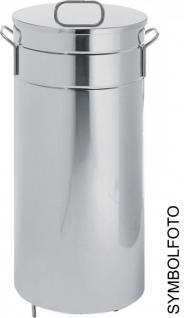 Graepel G-Line Pro hochwertiger Abfalleimer Americana aus poliertem Edelstahl