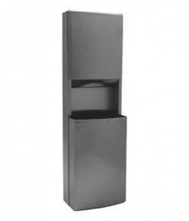 Bobrick B-43949 Papierhandtuchspender und Abfallbehälter Kombi für Wandmontage