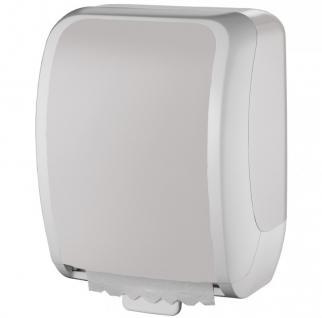 Metzger COSMOS abschließbarer Papierhandtuchspender aus ABS Kunststoff in weiß