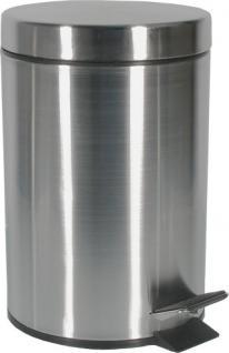 Alda Freedom Treteimer aus gebürstetem Edelstahl 12 Liter, rund