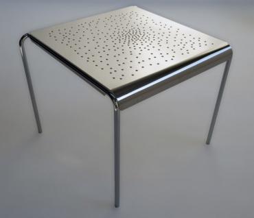 Tempesta hochwertiger Outdoor Tisch aus Edelstahl 1.4016 silber lackiert und behandelt - Vorschau 1