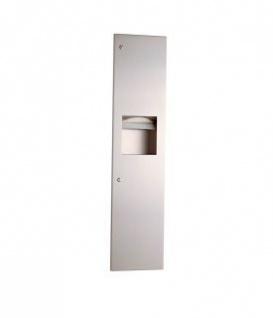 Bobrick B-38034/9 Papierhandtuchspender und Abfallbehälter Kombination aus Edesltahl