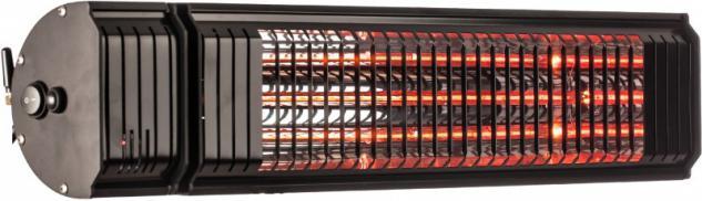 Infralogic HeizMeister LuXus All-in-One Infrarotheizung 2000 Watt in Schwarz