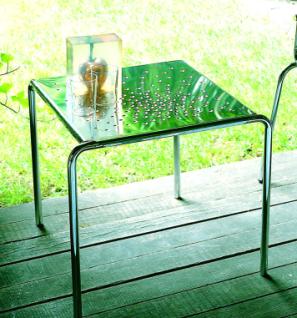 Graepel Tempesta erstklassiger Outdoor Tisch aus Edelstahl 1.4016 silber lackiert und behandelt - Vorschau 1