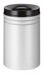 Feuerlöschender Papierkorb 80 Liter Grau/Schwarz