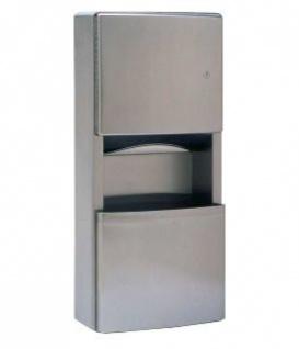 Bobrick B-43699 Aufputzmontierter Papierhandtuchspender und Abfallbehälter