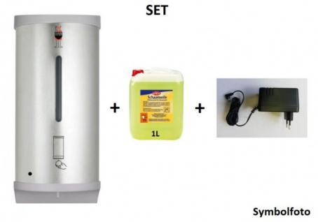 Set Dan Dryer - Berührungsloser Edelstahl Seifenspender + Adapter + 1L Schaumseife