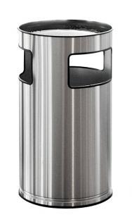 Ascher-Papierkorb aus Edelstahl 110 Liter