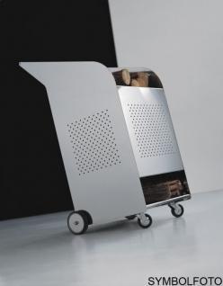 Graepel High Tech hochwertiger W.O.W. Kaminholzwagen Indoor aus Edelstahl