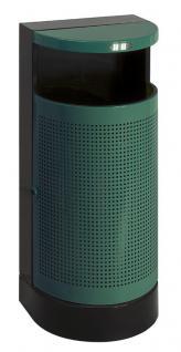 Halbrunder abfalbehälter für draußen 35 Liter
