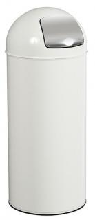 Rossignol Push Abfallbehälter 45 Liter aus Stahl oder Edelstahl mit Einwurfklappe
