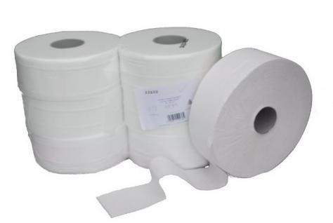 Jumbo-Toilettenpapier-Verpackungseinheit 6 Rollen - 300m -2 lagig - Zellstoff