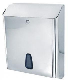 Marplast Towelinox Papierhandtuchspender Edelstahl poliert MP 802 - 250Stk. C-Falz, V-Falz, Z-Falz