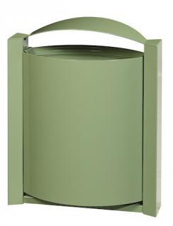 Rossignol Arkea Abfallkorb 40 Liter zur Wandmontage aus rostfreiem Stahl