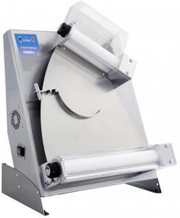 Casselin Pizza Teig Roll-Maschine 400 aus Edelstahl mit Touch and Go Technologie