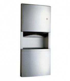 Bobrick B-4369 Edeöstahl Papierhandtuchspender und Abfallbehälter für Wandeinbau