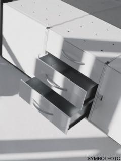 Graepel High Tech 3 Schubladen aus gebürstetem Edelstahl