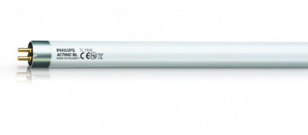 Ersatzrohr UV Actinic BL TL-K 450mm 15 Watt mit Splitterschutz und 8000 Stunden Lebensdauer