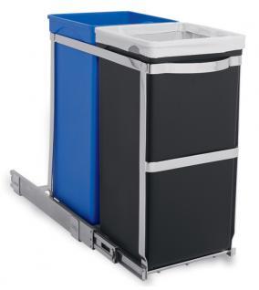 Simplehuman Einbauabfallsammler Recycling 35 Liter