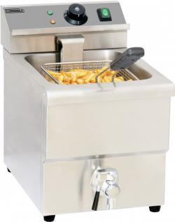 Casselin Fritteuse aus Edelstahl mit Ablasshahn 8l - 3250W - Sicherheitsthermostat