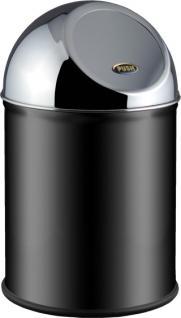 Alda Clean World schwarzer Papierkorb mit Pushklappe