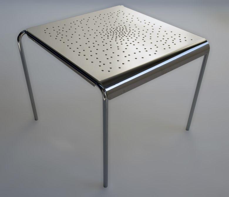 tempesta hochwertiger outdoor tisch aus edelstahl silber lackiert und behandelt kaufen. Black Bedroom Furniture Sets. Home Design Ideas