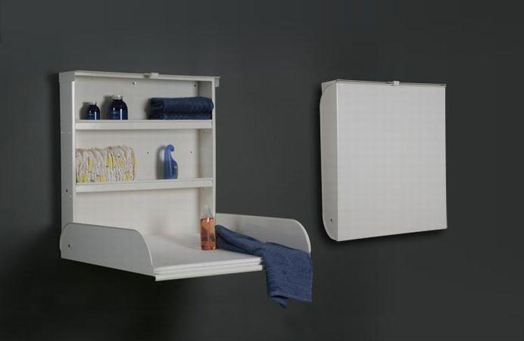stahlwickeltisch klappbar mit regalsystem und wickelauflage bybo design wei kaufen bei. Black Bedroom Furniture Sets. Home Design Ideas