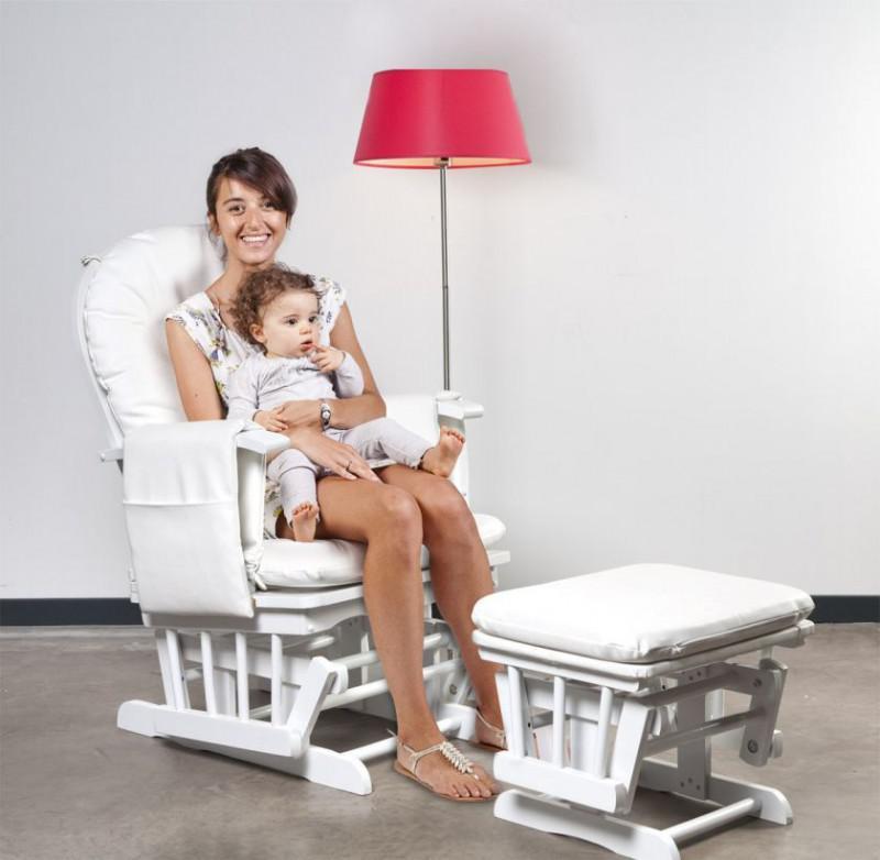 childhome stillstuhl rund mit fu st tze wei glchrw. Black Bedroom Furniture Sets. Home Design Ideas