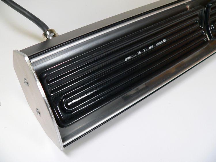 infrarot keramik heizstrahler in schwarz 1950 watt raumheizsystem von elbo therm kaufen bei. Black Bedroom Furniture Sets. Home Design Ideas