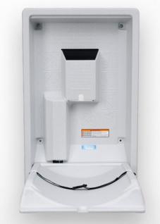 Koala Klappbare Wickelstation KB-101 Vertikal MICROBAN® Hygieneschutz 3 Varianten