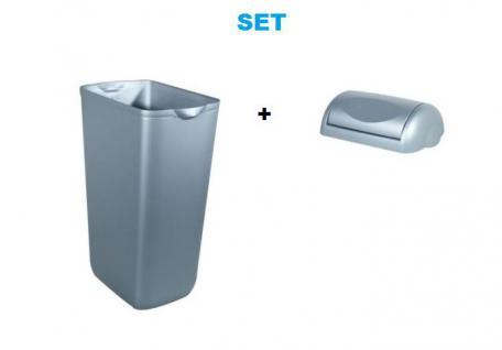Set - Marplast Mülleimer 23L Satin MP 742 - mit Normaler Klappdeckel
