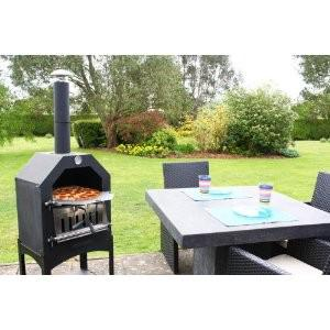 Outtrade Pizza BBQ Grill - Stahl - PIZ13 - Feuerfeste Backstein inklusive