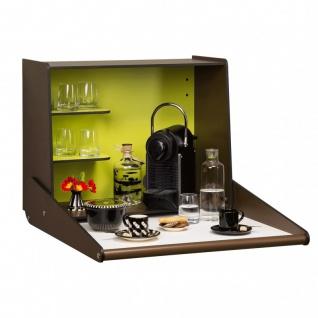 Klappbare und platzsparende Wand-Bar mit individuellem Wunschmotiv auf der Front