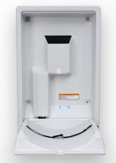 Koala Klappbare Wickelstation KB-101 Vertikal MICROBAN® Hygieneschutz