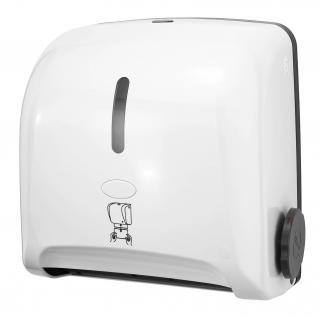 Hyprom Pull'n Dry Papierhandtuchspender Mini Weiß mit Selbstschneide-Mechanismus
