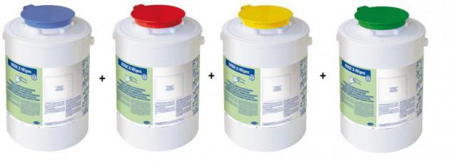 Set X-Wipes Desinfektion Vliestuch Spendersystem in 4 verschiedener Farben