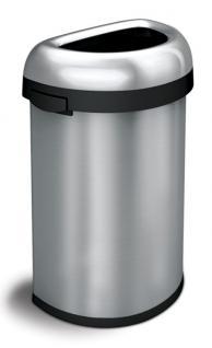 Simplehuman Semi-round Open Bin 60 Liter