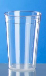 Mehrweg-Becher glasklar 0, 2l - 0, 5l PC - Kunststoff