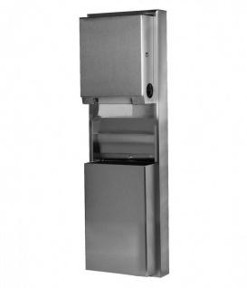 Bobrick konvertierbarer Papierhandtuchspender und Abfallbehälter für den Wandeinbau