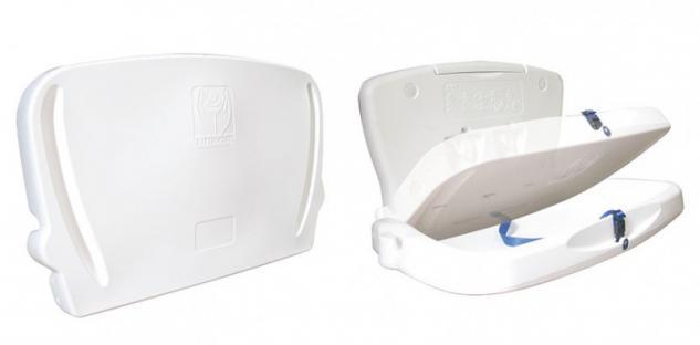 Vectair Systems klappbarer und horizontaler Wickeltisch mit Sicherheitsgurt