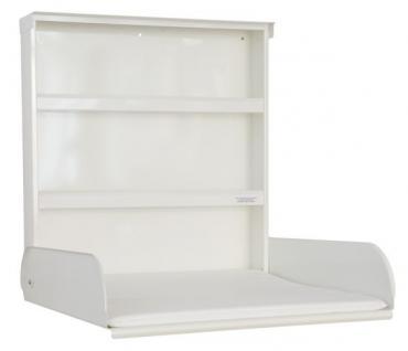Stahlwickeltisch Klappbar mit Regalsystem und Wickelauflage - byBo Design Weiß