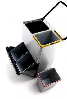 Graepel G-Line Pro hochwertiger Mülleimer Four aus Edelstahl 1.4016 gebürstet