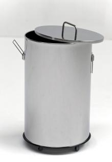 G-Line Pro robuster Abfalleimer Americanaesse aus poliertem Edelstahl 1.4016